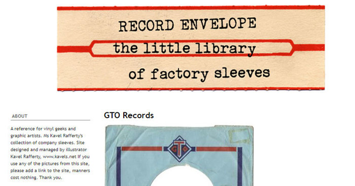 Record Envelope - The Little Library of Record Sleeves website shot