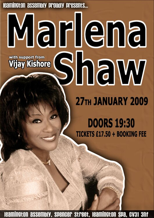 Marlena shaw live the assembly leamington spa 27th jan for 27th street salon