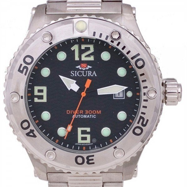 Sicura 300m divers automatic watch SM606MB black dial 1.jpg