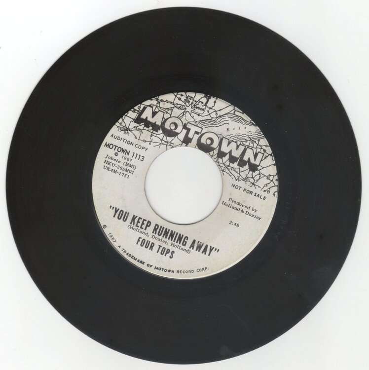 Four Tops - You Keep Running Away £25.00.jpg