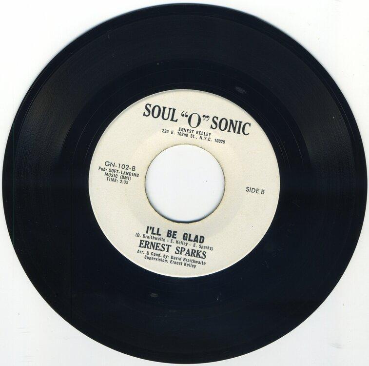Ernest Sparks - I'll Be Glad - Soul O Sonic.jpeg