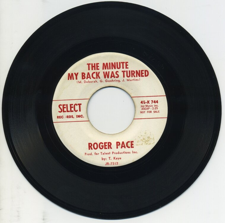 Roger Pace - The Minute My Back Was Turned - Select Promo.jpg