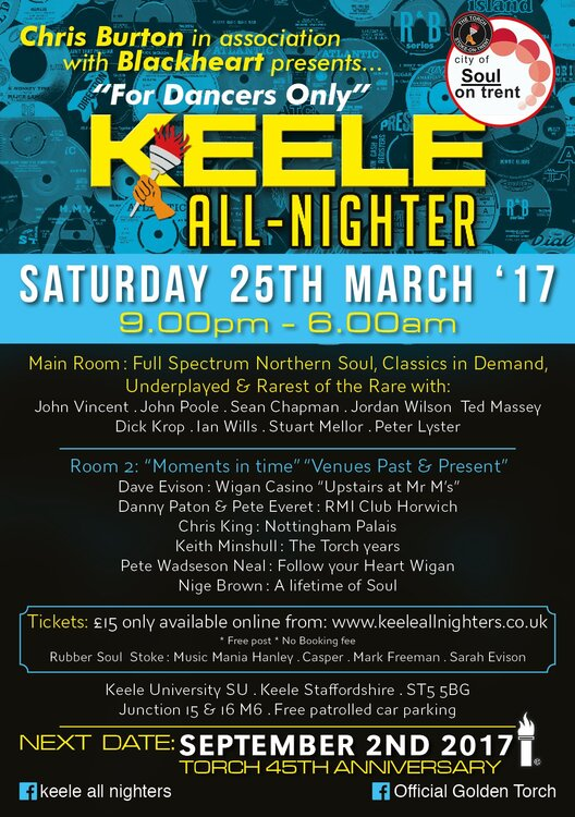 The Keele All Nighter Allnighters Soul Source