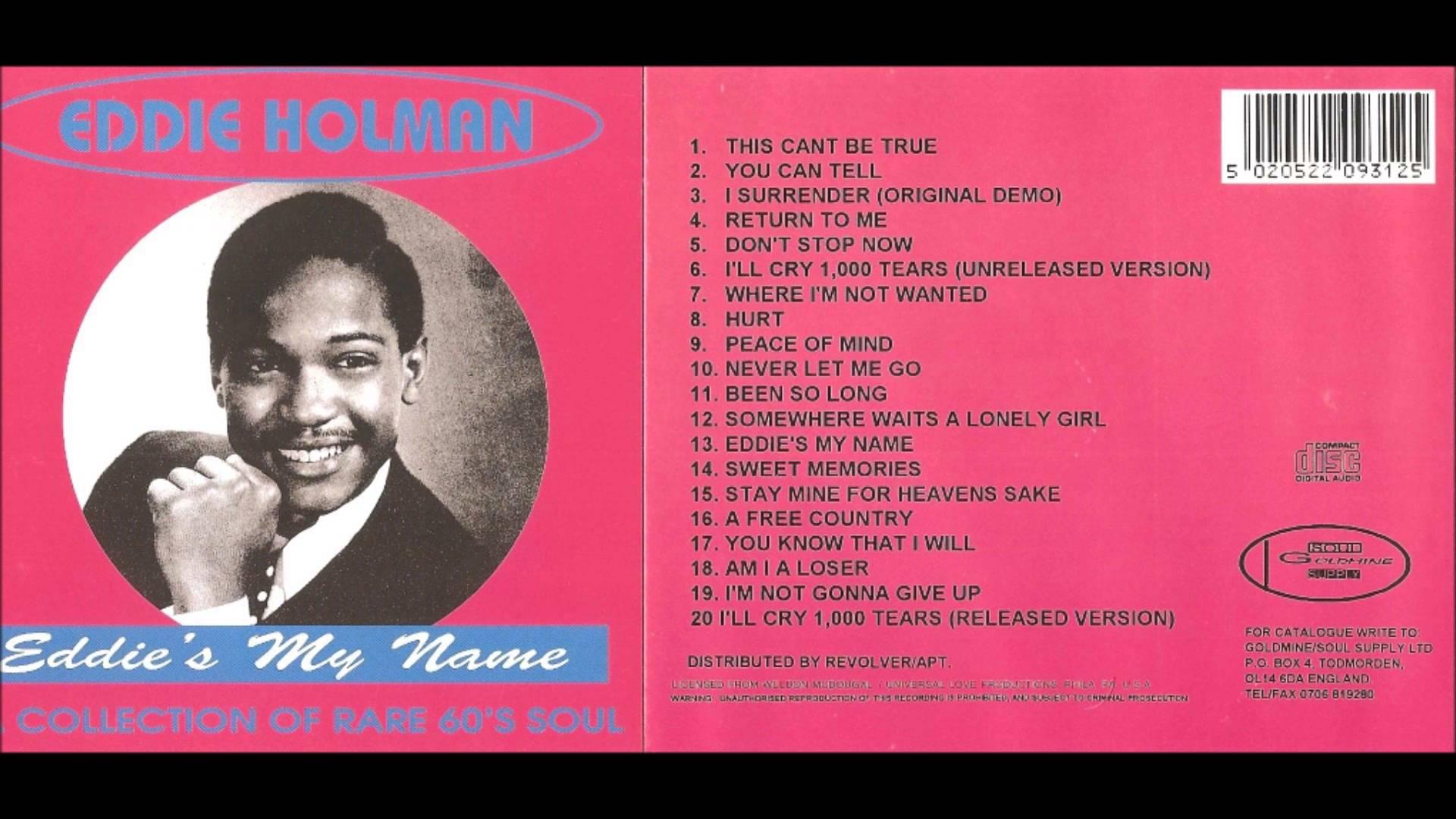 Eddie Holman album   Eddies my name - Record Wants | Soul Source