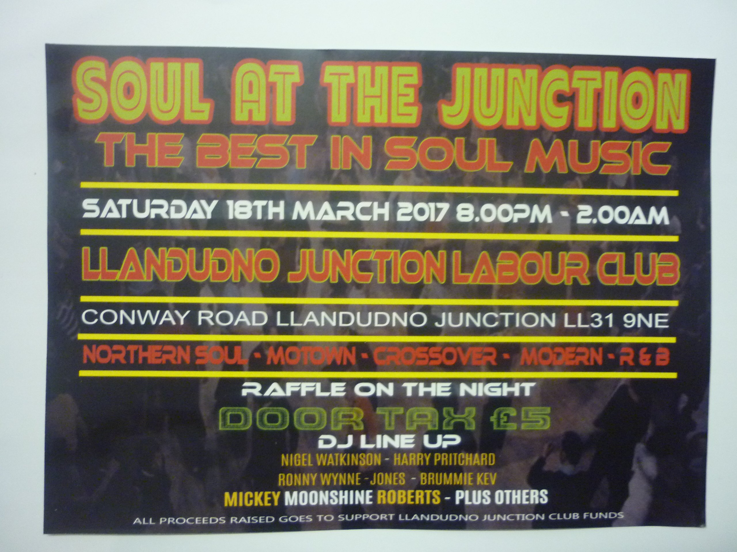 SOUL AT THE JUNCTION NORTH WALES - Soul Nights | Soul Source