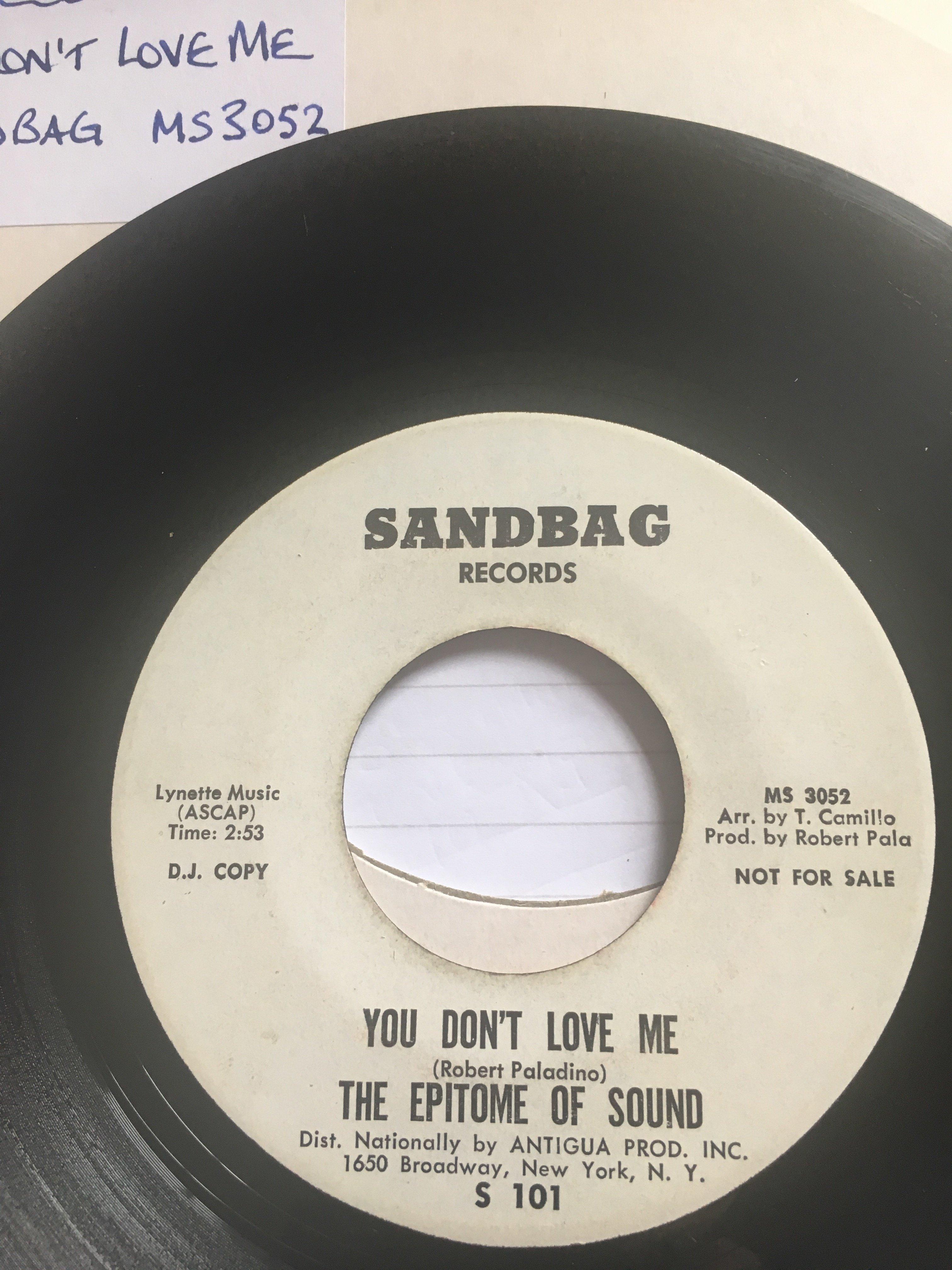 Epitome Of Sound Rare Original Demo Record Sales