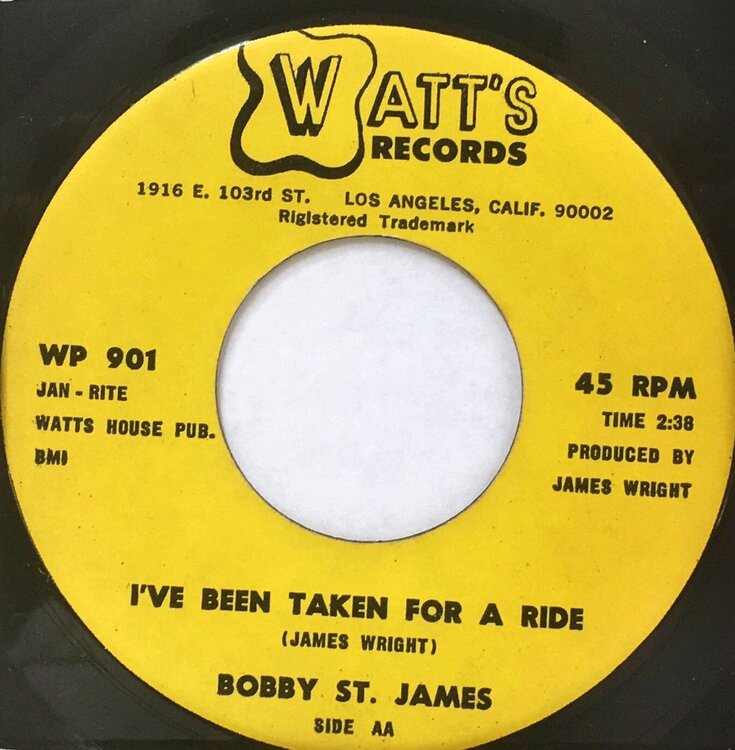 St. James, Bobby  - I've Been Take For A Ride.jpeg