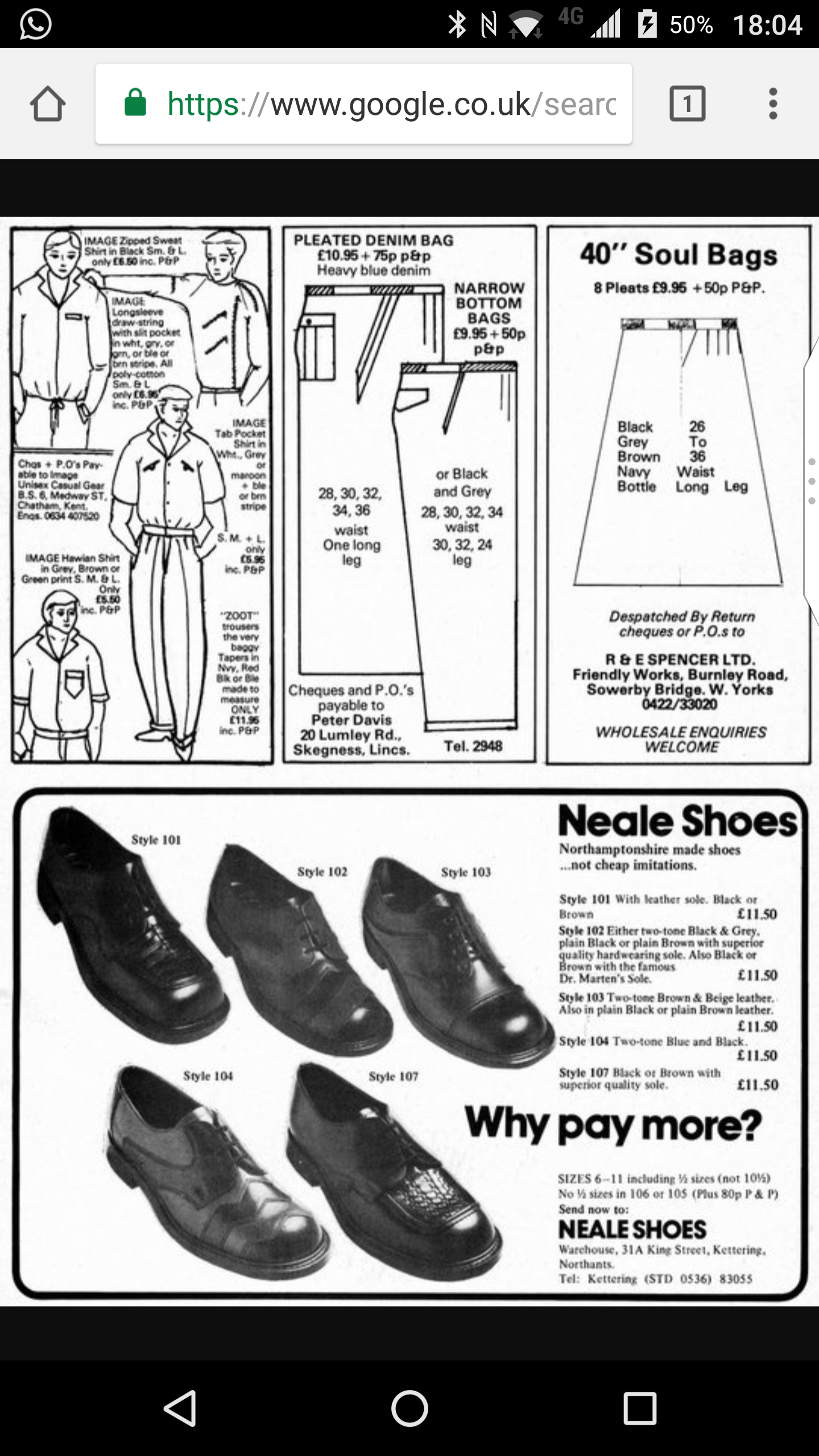 Northern Soul Fashion Revival - Footwear Solatio OR Brogue