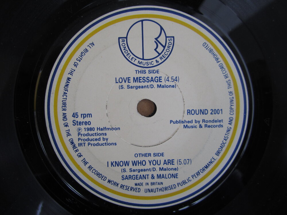 Sargeant & Malone - love message RONDELET.JPG