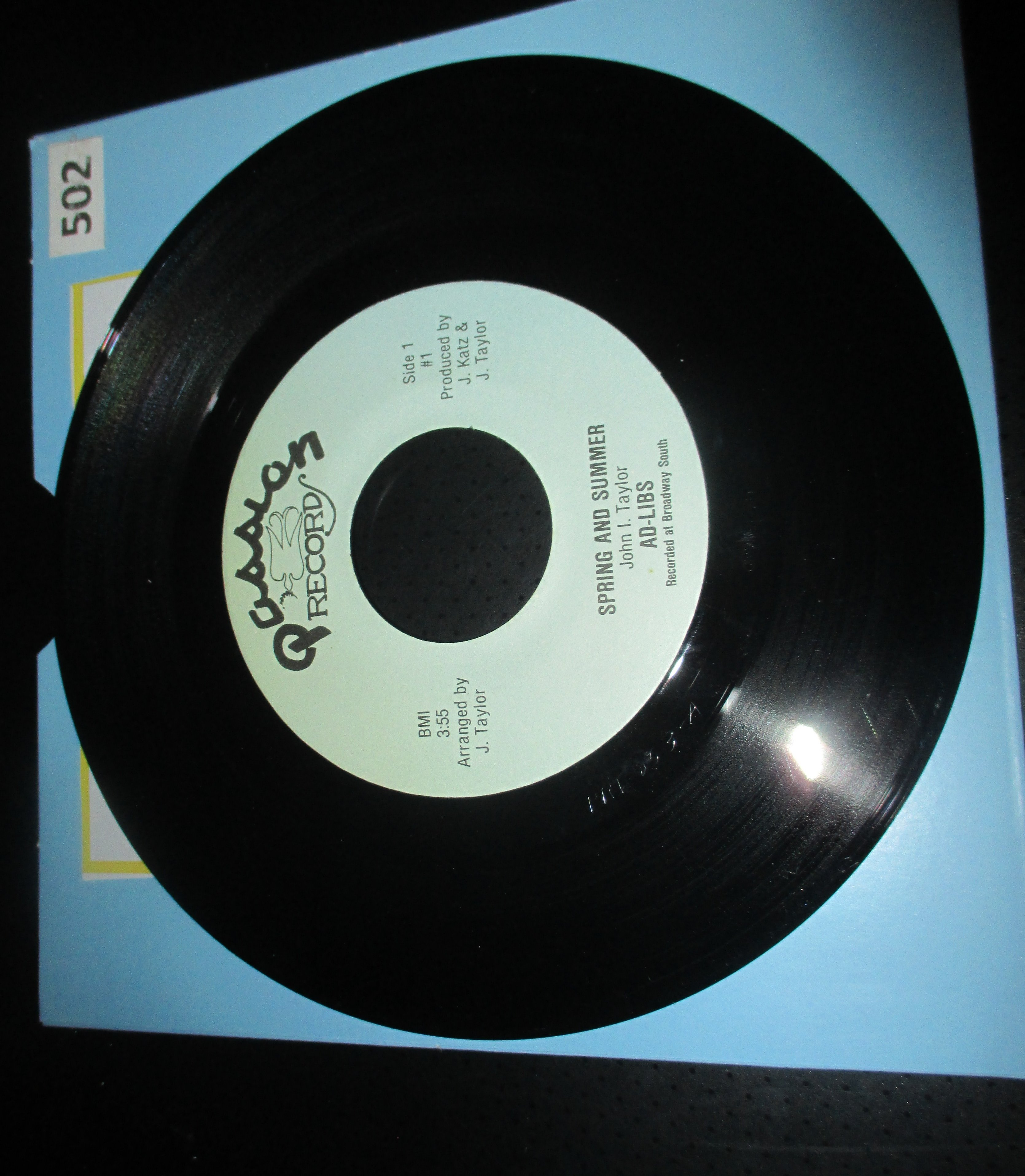 The Ad-Libs - I Don't Need No Fortune Teller - Record Sales