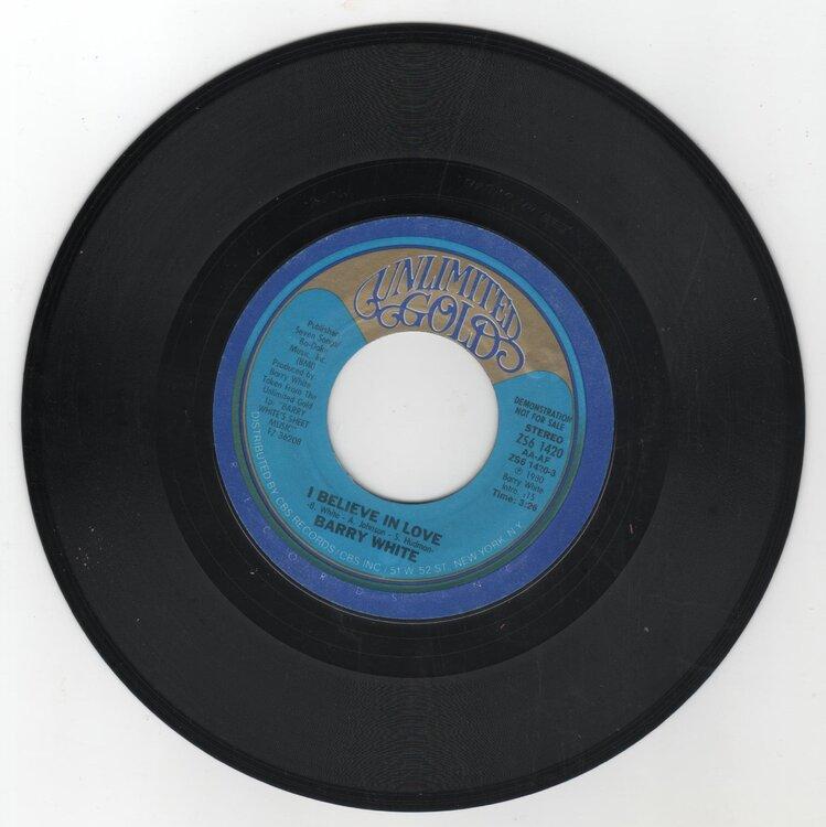Barry White - I Believe In Love £8.jpg