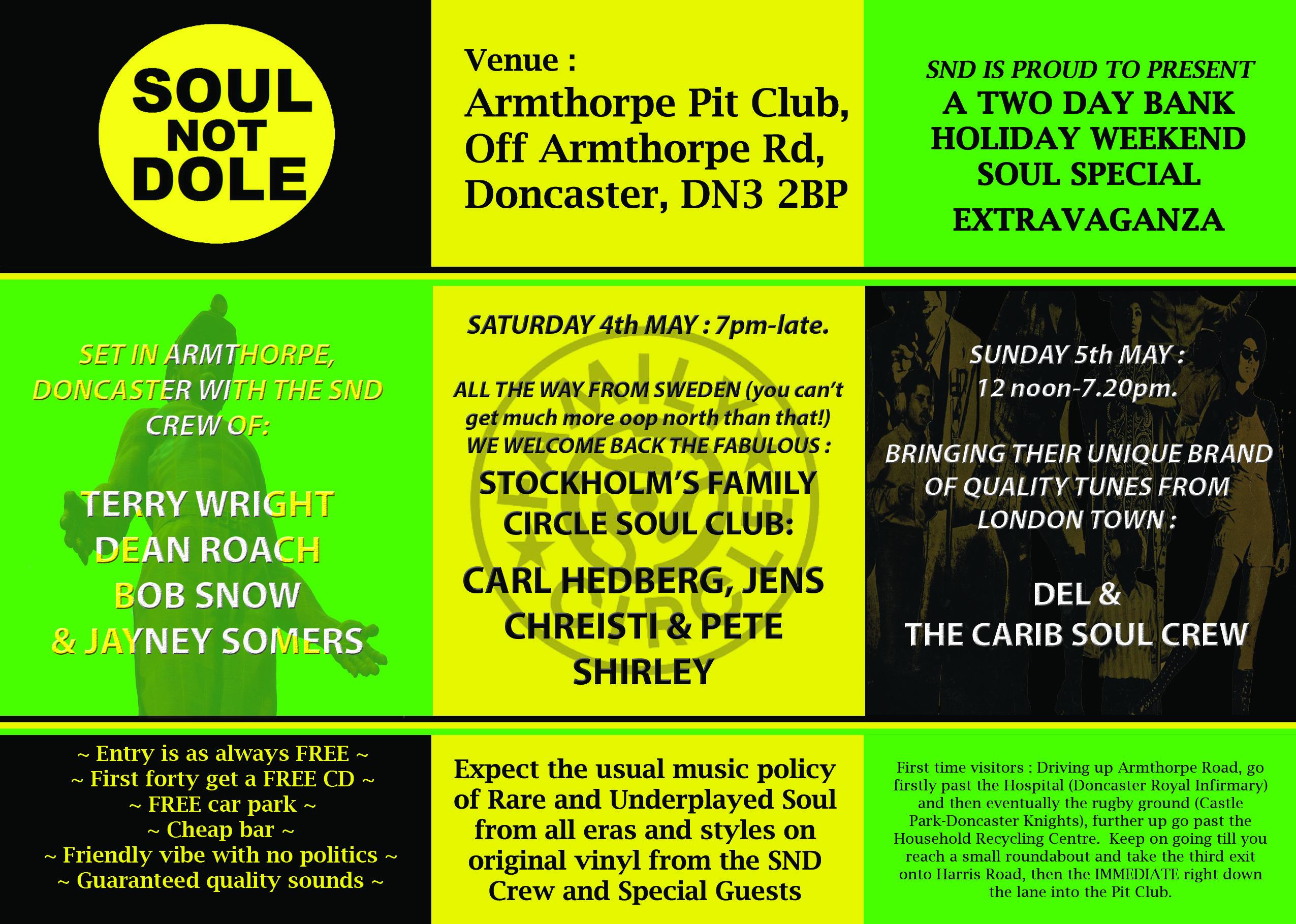 SOUL NOT DOLE DONCASTER - Alldayers | Soul Source