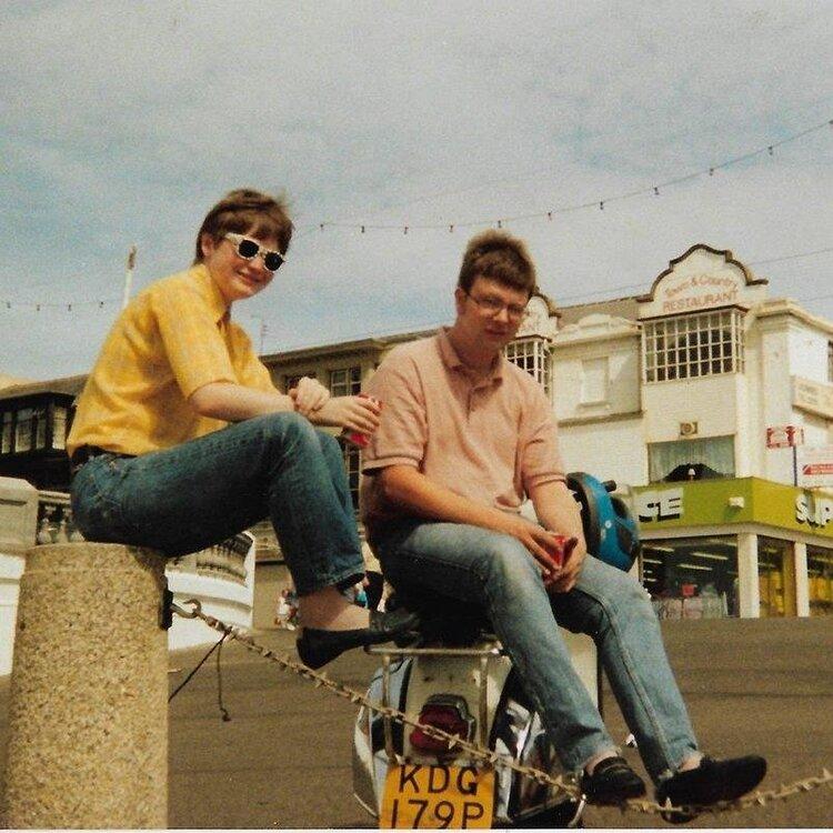 Prin and me  - Blackpool mod rally 1991.jpg