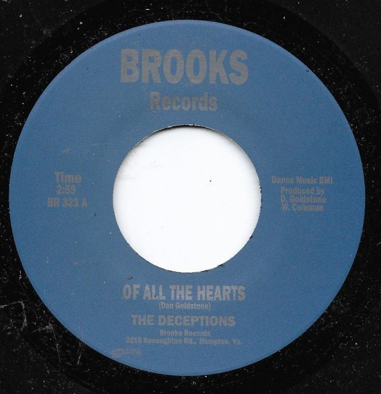 The Deceptions - of all the hearts - Brooks - REISSUE