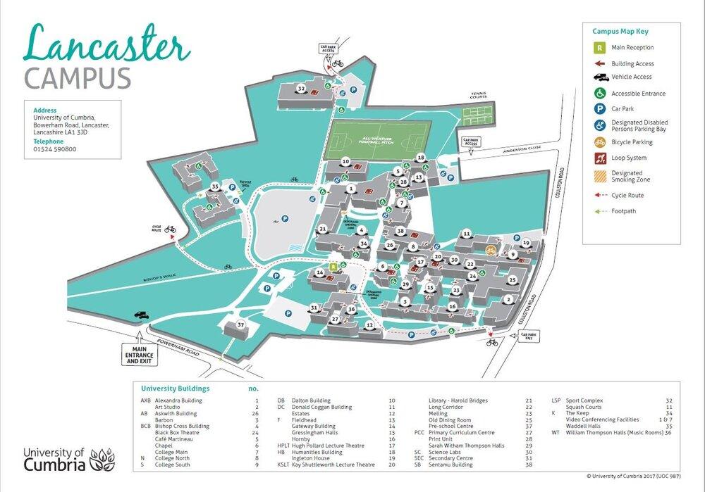 soul Lancaster campus map