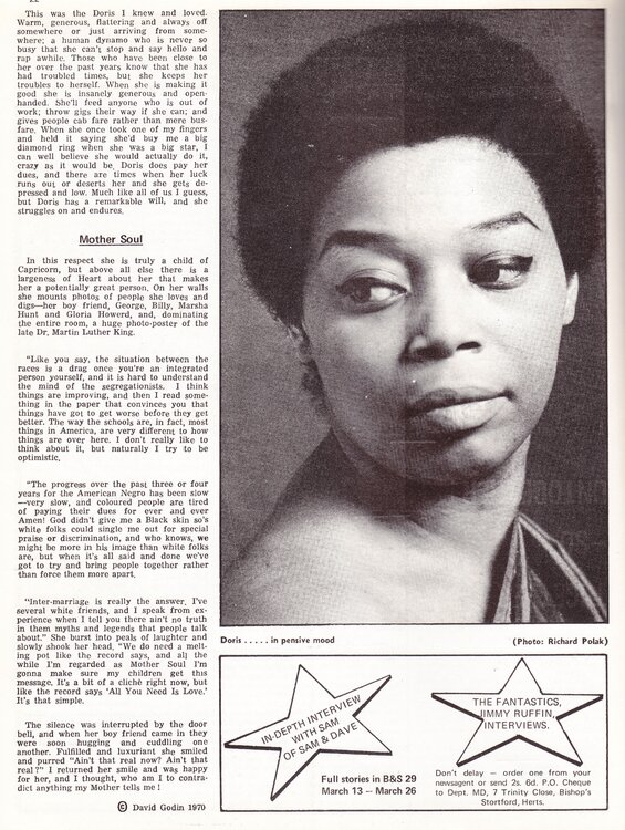 soul 1970 B&S #28 Doris Troy 3