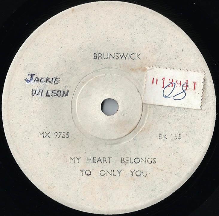soul Jackie Wilson My Heart Belongs to Only You