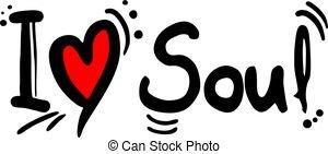 soul creative design of soul music love message eps vector_csp63621181