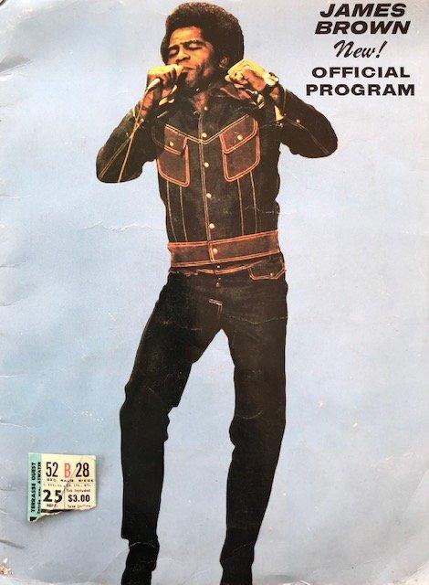 soul jamesbrown1970concertprogrammeandstub