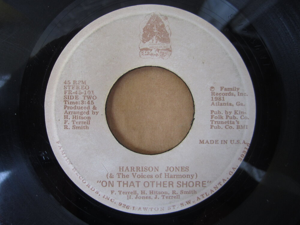 soul Harrison Jones   on that other shore FAMILY RECORDS INC.