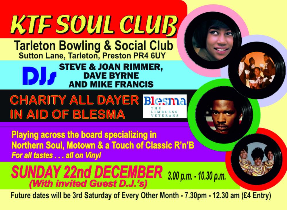 soul KTF Soul Flyer   December 2019   BLESMA Charity.