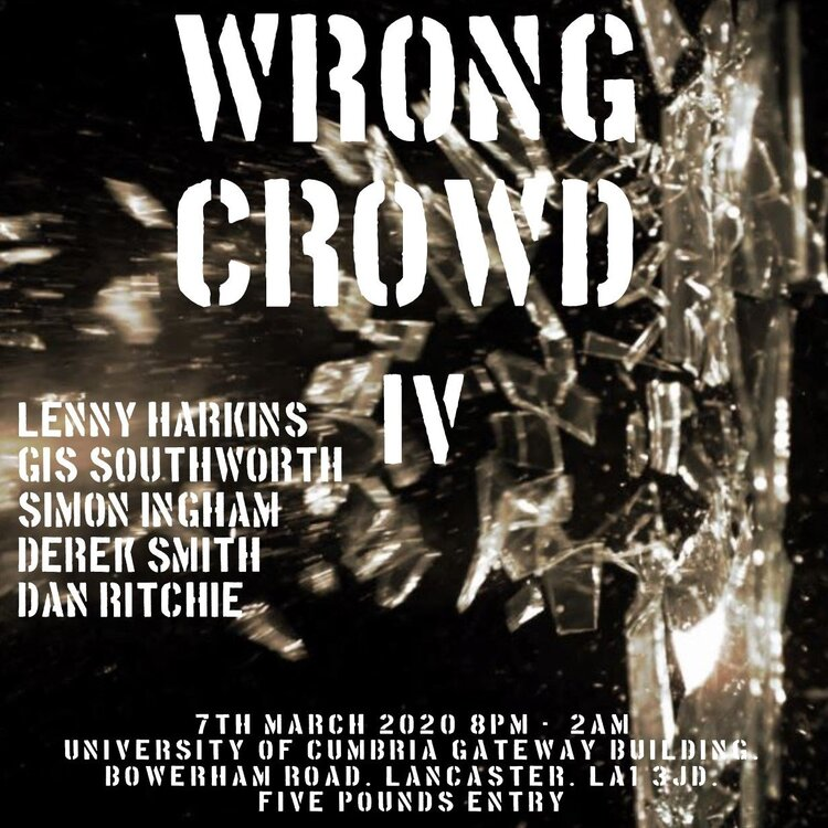 soul Wrong Crowd March 2020 print and FB flyer