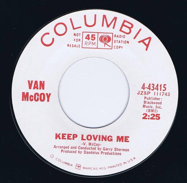 soul van mccoy keep loving me columbia43415