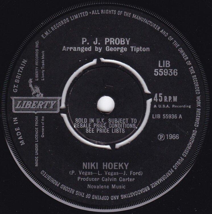 soul P. J. Proby   Niki Hoeky