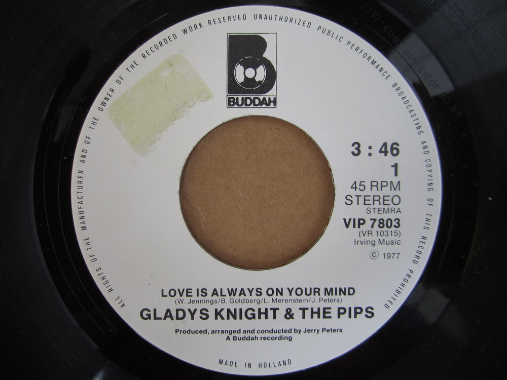 soul Gladys Knight & the Pips   love is always on your mind BUDDAH