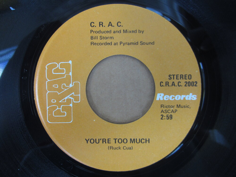 soul C.R.A.C.   you're too much C.R.A.C.