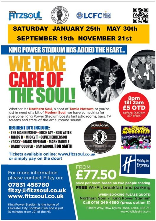 soul LEICESTER 2020 NEW FLYER BACK