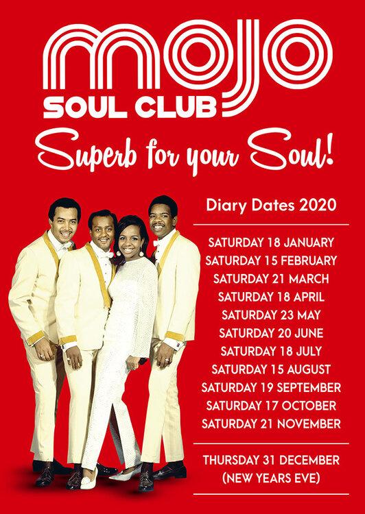 soul Mojo Club 2020 Dates A5