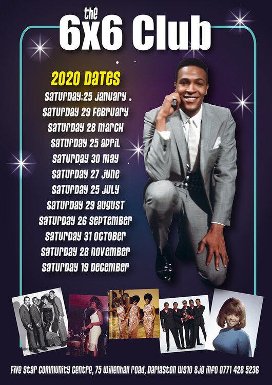 soul 6x6 Motown Dates 2020