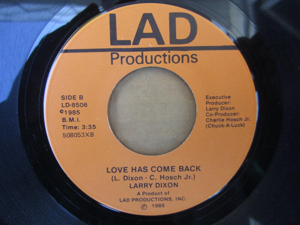 soul Larry Dixon   love has come back LAD PRODUCTIONS