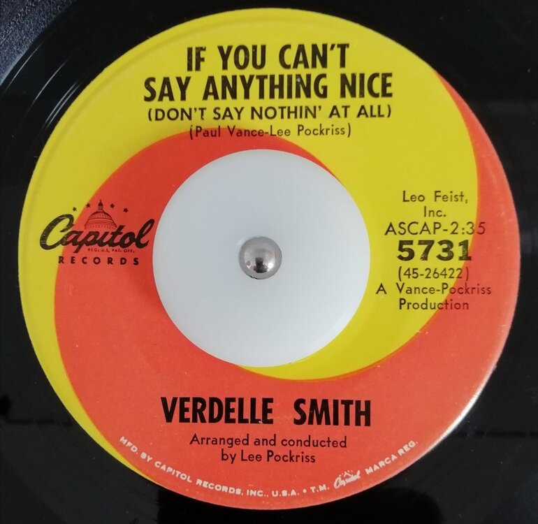 soul Verdelle Smith   If you can´t say anything nice