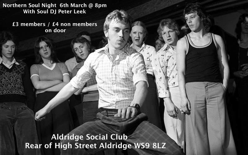 soul Aldridge soul club 03 March