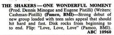 soul Shakers One wonderful moment Billboard review 29th July 1967