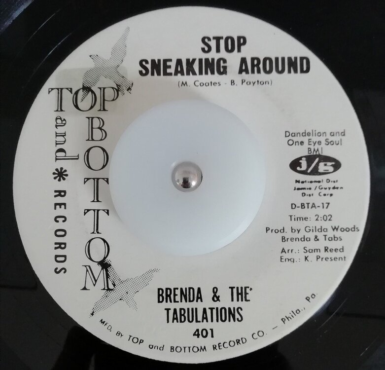 soul Brenda & The Tabulations   Stop sneaking around