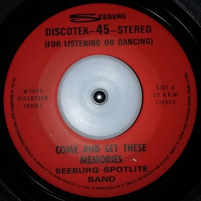 soul Seeburg Spotlite Band   Come and get these memories