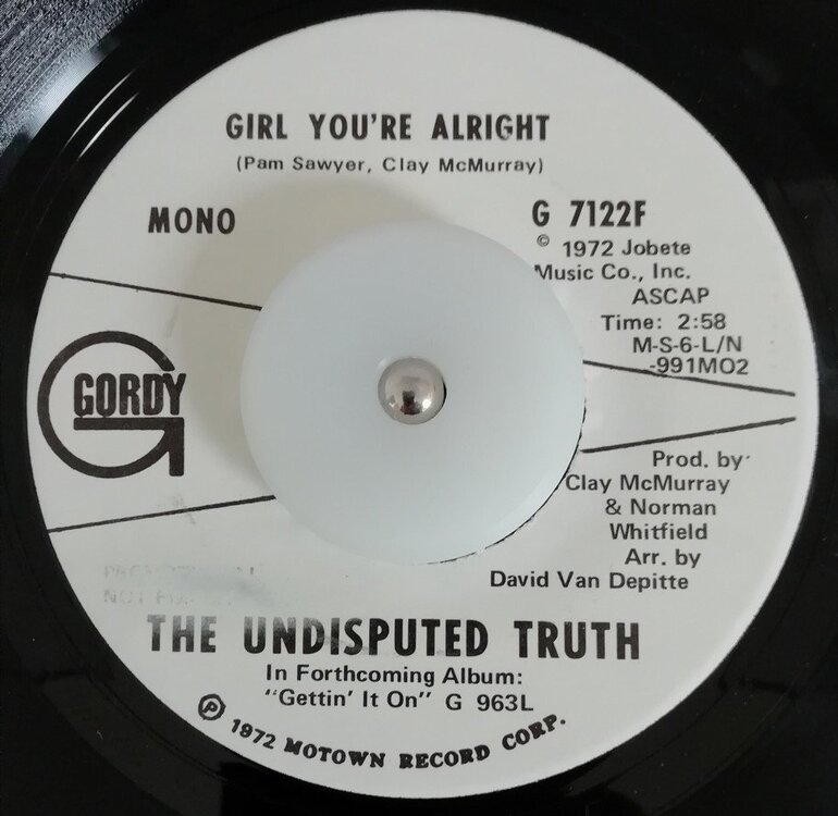 soul Undisputed Truth   Girl you´re alright