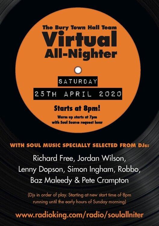 soul Virtual All Nighter Flyer 25.04.2020