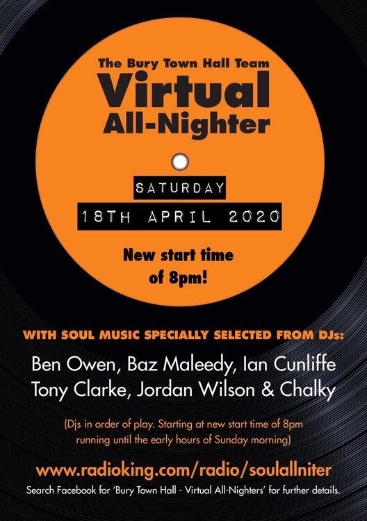 soul Virtual All Nighter DJs 18.04.2020