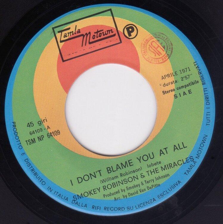 Smokey Robinson - - I Dont Blame You.jpg