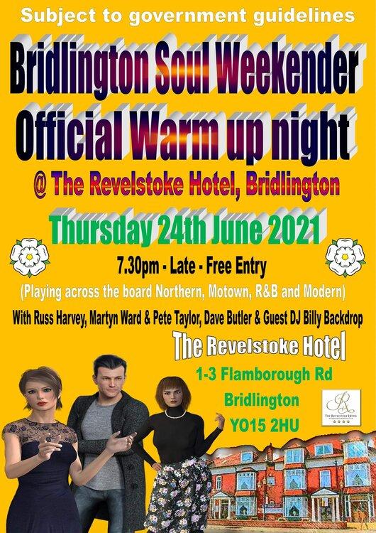 Bridlington Soul Weekender Offcial Warm Up Night.jpg