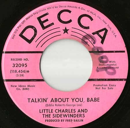 Little Charles and the Sidewinders - Talkin About You Babe.jpg