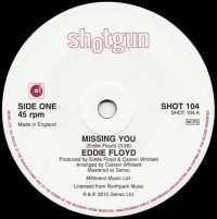 Eddie Floyd - Missing You / You Must Have Been Dreaming - Shotgun Records image