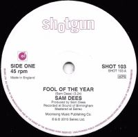 Sam Dees - Fool Of The Year / Train To Tampa - Shotgun Records image